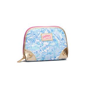 Lilly Pulitzer Blue Kappa Kappa Gamma Makeup Bag